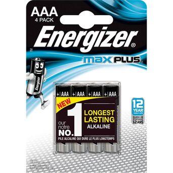 Energizer Pilha Alcalina MaxPlus™ AAA LR3, Embalagem 4 Unidades