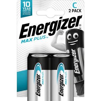 Energizer Pilhas Baby C Max Plus, Alcalinas de Manganês