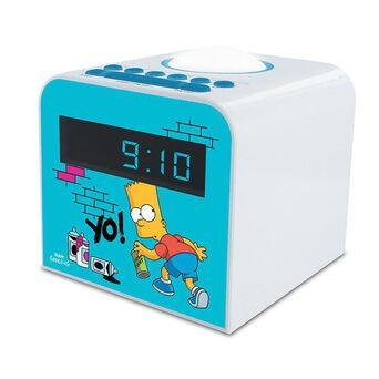 METRONIC Rádio Despertador Bart Simpson, Branco e Azul
