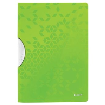 LEITZ Classificador com Clipe ColorClip Wow, A4, 30 Folhas, Verde