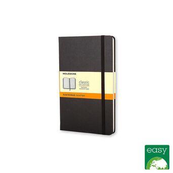 MOLESKINE Bloco de Notas Classic Hard Cover, 14 x 9 cm, 96 Folhas, Pautado, Capa Dura em Cartão, Preto