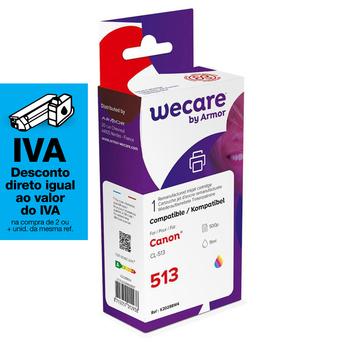 Wecare Tinteiro refabricado, compatível com  CANON CL-513, 2971B001, 3 cores embalagem Única