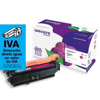 Wecare Toner remanufaturado, magenta embalagem Única, CE403A, Compatível com HP 507A
