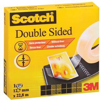 Scotch Fita de dupla face transparente 665, 12 mm x 33 m