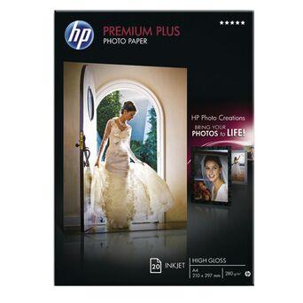 HP Premium Plus Papel Fotográfico para Jacto de Tinta A4 Brilhante 280 g/m² Branco 20 Folhas