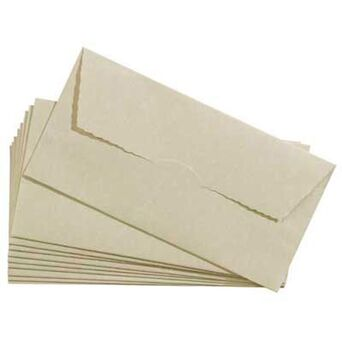 Staples Envelope Decorativo, Internacional DL, 220 x 110 mm, Bege