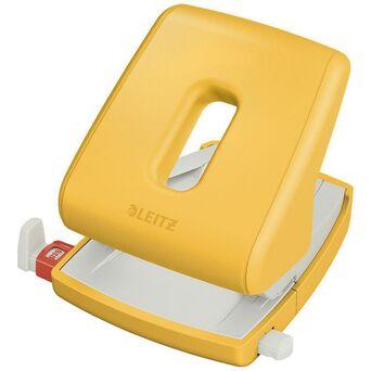 LEITZ Furador Cosy, Capacidade de Furação de 30 Folhas, 2 Furos, Amarelo
