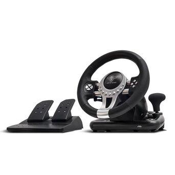SPIRIT OF GAMER Volante Gaming Race Wheel Pro 2, Compatível com PS3, PS4, Xbox One, Switch e PC, Preto