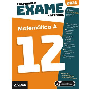 PORTO EDITORA Livro 'Preparar o Exame Nacional: Matemática A' – 12º Anos