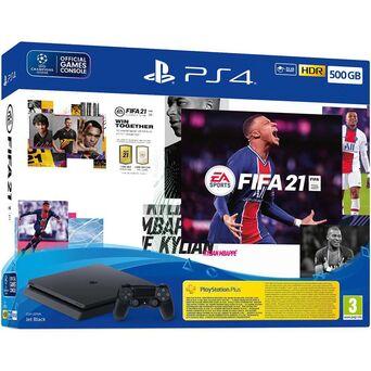 SONY Consola Playstation 4, 500 GB e Jogo FIFA 2021
