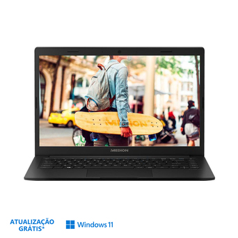 "MEDION Portátil Akoya® E4251, 14"", Intel® Core® N4020, 4 GB RAM, 64 GB, Preto"