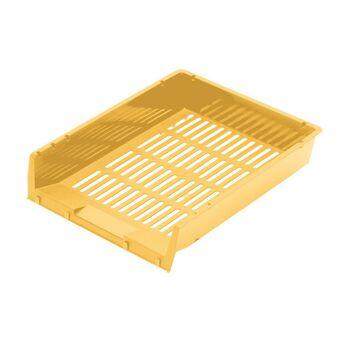 FAIBO Tabuleiro de Secretária, A4, 6,5 x 34 x 27,5 cm, Amarelo Pastel