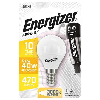 Energizer Lâmpada LED Golf, E14, 470 Lúmenes, 3000 K, Luz Branca Quente