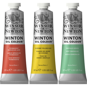WINSOR  NEWTON Tinta de Óleo Winton, 37 ml, Amarelo Cadmio Escuro (115)