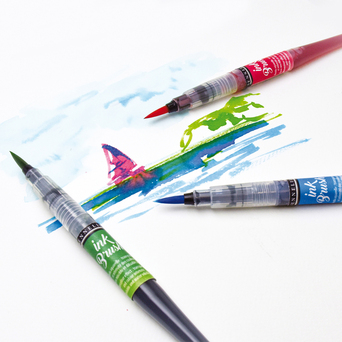 SENNELIER Marcador Pincel Ink Brush, Iridiscente Laranja