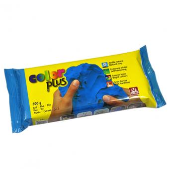 Argila Modelar Colorplus, Azul, 500 g