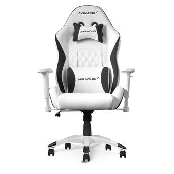 AKRACING Cadeira Gaming L.Series -California-Laguna, Pele Sintética, Branco