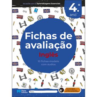 PORTO EDITORA Livro 'Fichas de Avaliação- Inglês', 4º. Ano