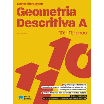 PORTO EDITORA Livro 'Novas Abordagens - Geometria Descritiva A', 10º e 11º. Anos