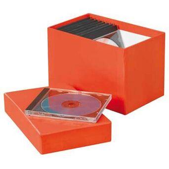 ANCOR Caixa para 20 CD's e  21 x 13 x 14,4 cm, Várias Cores