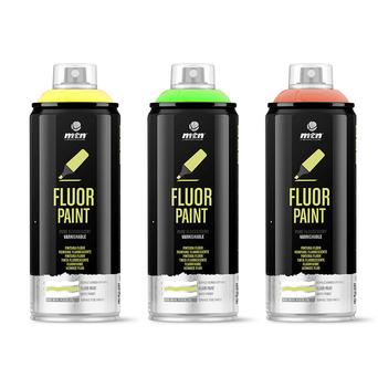 Tinta em Spray PRO Tinta Fluorescente, 400 ml, Amarelo