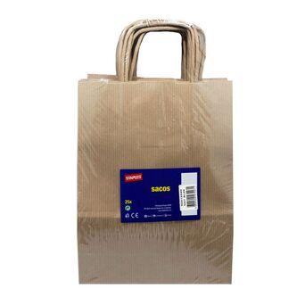 Staples Saco de Papel Kraft, 32 x 12 x 41 cm, Castanho Natural, 25 Unidades