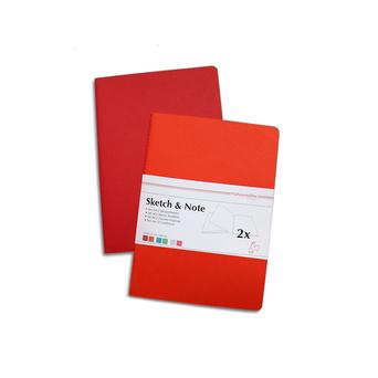 Hahnemuehle Blocos de Esboço, A6, 125 g/m2, 20 Folhas, 2 Unidades, Vermelho e Laranja