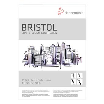 Hahnemuehle Bloco de Desenho Bristol, A3, 250 g/m2, 20 Folhas