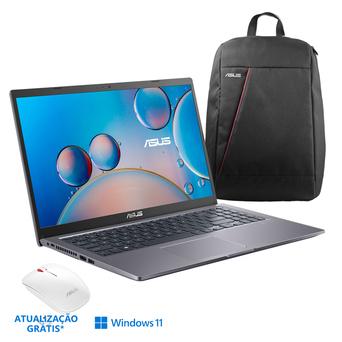 """ASUS Portátil F515MA, 15,6"""", Intel® Celeron® N4020, 4 GB RAM, 1 TB HDD + 256 GB SSD, Cinzento com Mochila e Rato sem Fios"""