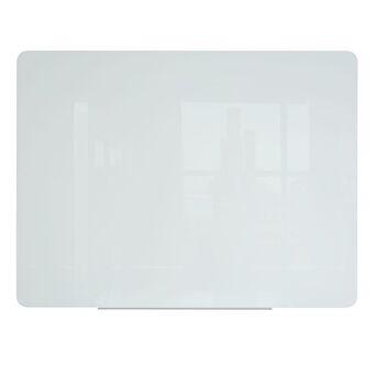BI-OFFICE Quadro magnético de limpeza a seco, superfície de vidro temperado branco, 4 mm, 1500 x 1200 mm
