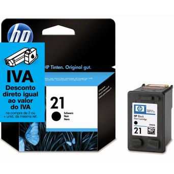 HP Tinteiro Original 21, Preto, Individual, C9351AE