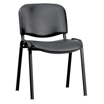 LINEA FABBRICA Cadeira de Visitante Visi Renna, Pele Sintética, Preto