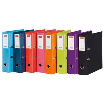 Staples Pasta de Arquivo Lisa, A4, Lombada Larga 70 mm, Cartão, Azul, 10 Unidades