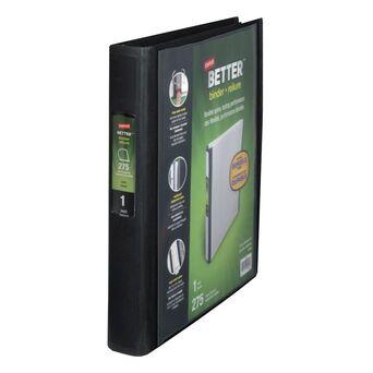 Staples Dossier com Argolas em D BETTER™, A4, Lombada de 40mm, Capacidade para 275 Folhas, Polipropileno, Preto