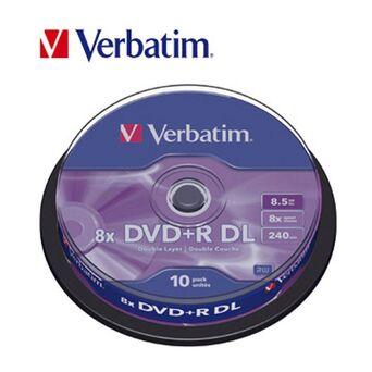 Verbatim DVD+R 8,5Gb 8x DL 10 Unidades